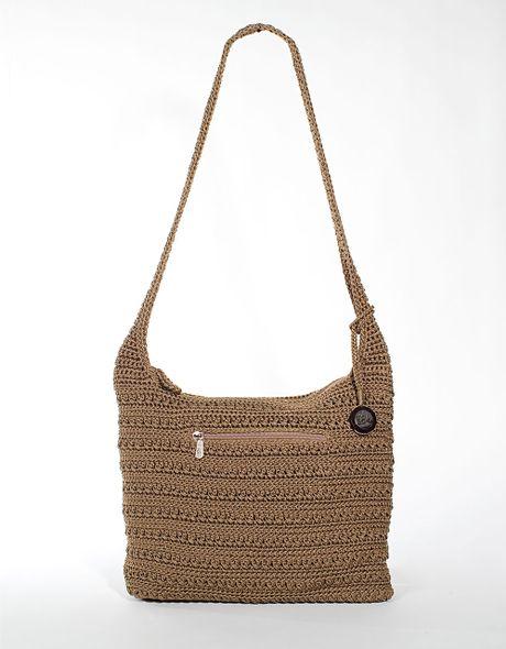 Sak Crochet Bag : The Sak Marlboro Crochet Shoulder Bag in Brown (taupe) Lyst