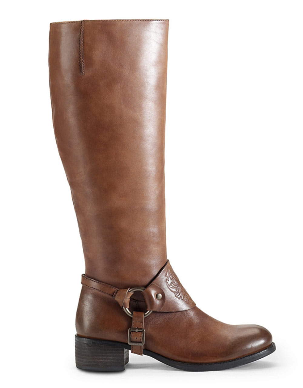 vince camuto shaylee leather boots in brown brown