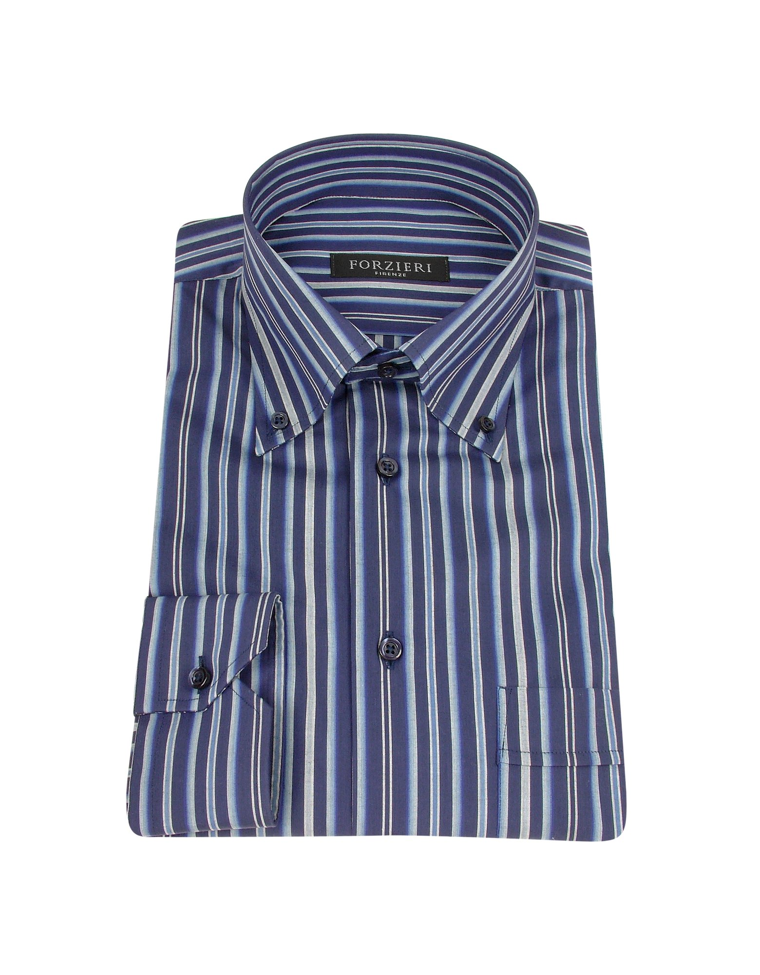 Lyst Forzieri Blue Variegated Striped Cotton Dress Shirt