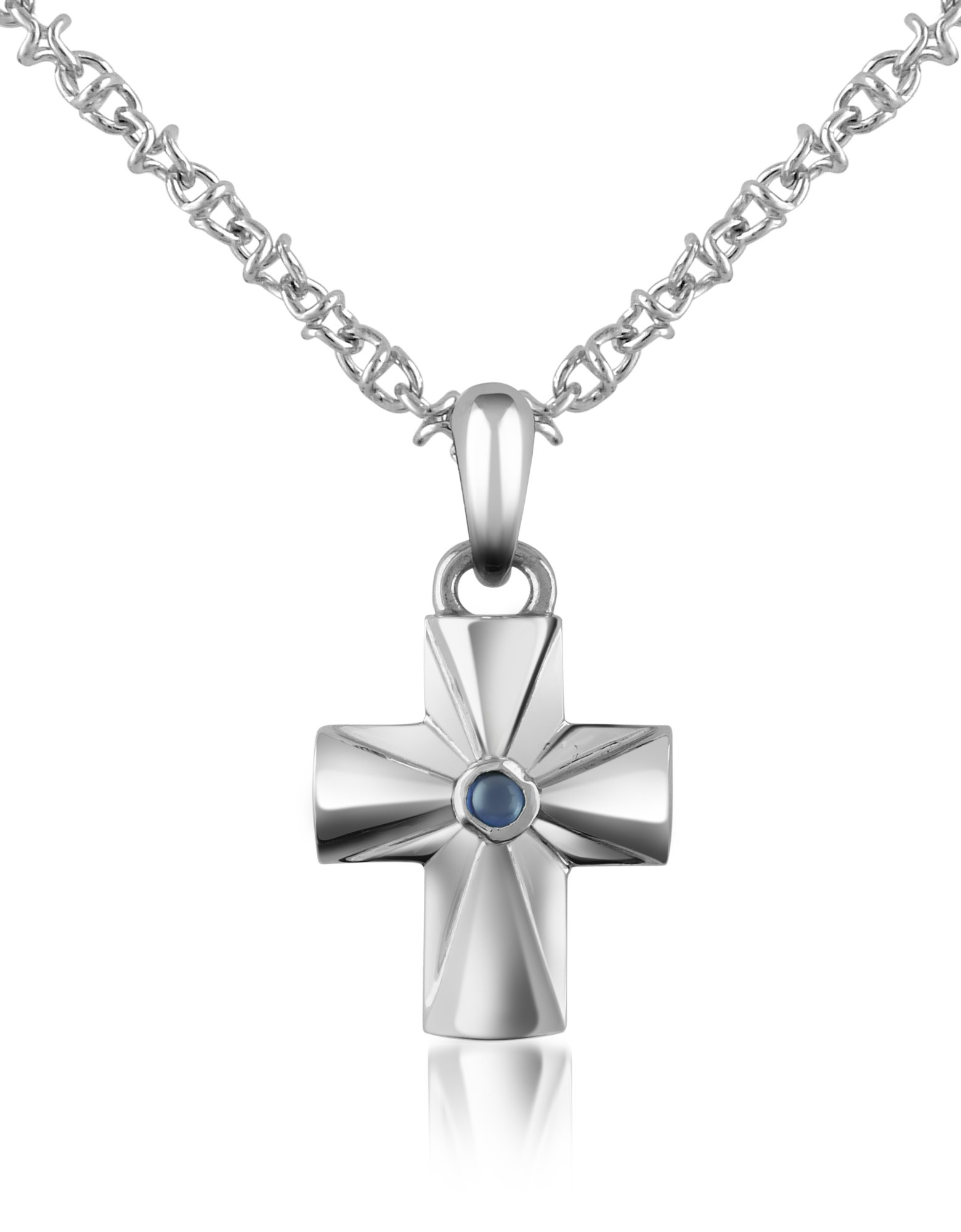 Forzieri Embellished Stainless Steel Necklace in Blue for Men sapphire