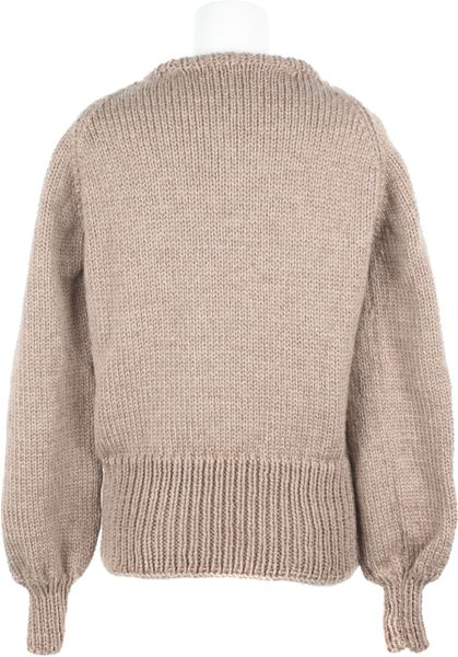 Rodarte Hand Knit Mohair Long Sleeves Sweater in Beige Lyst