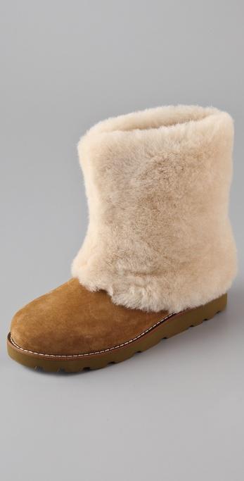 07faacca8b3c ... boot in brown 3b211 62d9b amazon lyst ugg maylin chestnut shearling boot  in brown 3b211 62d9b; germany new style ugg 5854 fox fur boots women mini  ...
