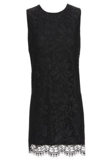 Dolce & Gabbana Floral Lace Shift Dress - Lyst