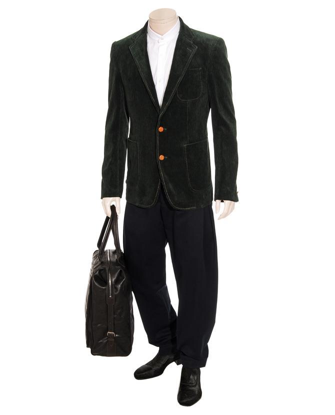 Kolor Corduroy Blazer Jacket in Dark Green (Green) for Men