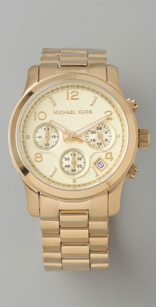 Michael Kors Jet Set Sport Watch in Gold - Lyst