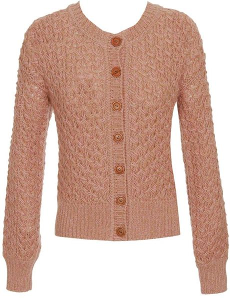Missoni Wong Wool-mohair Blend Cardigan in Pink (peach)