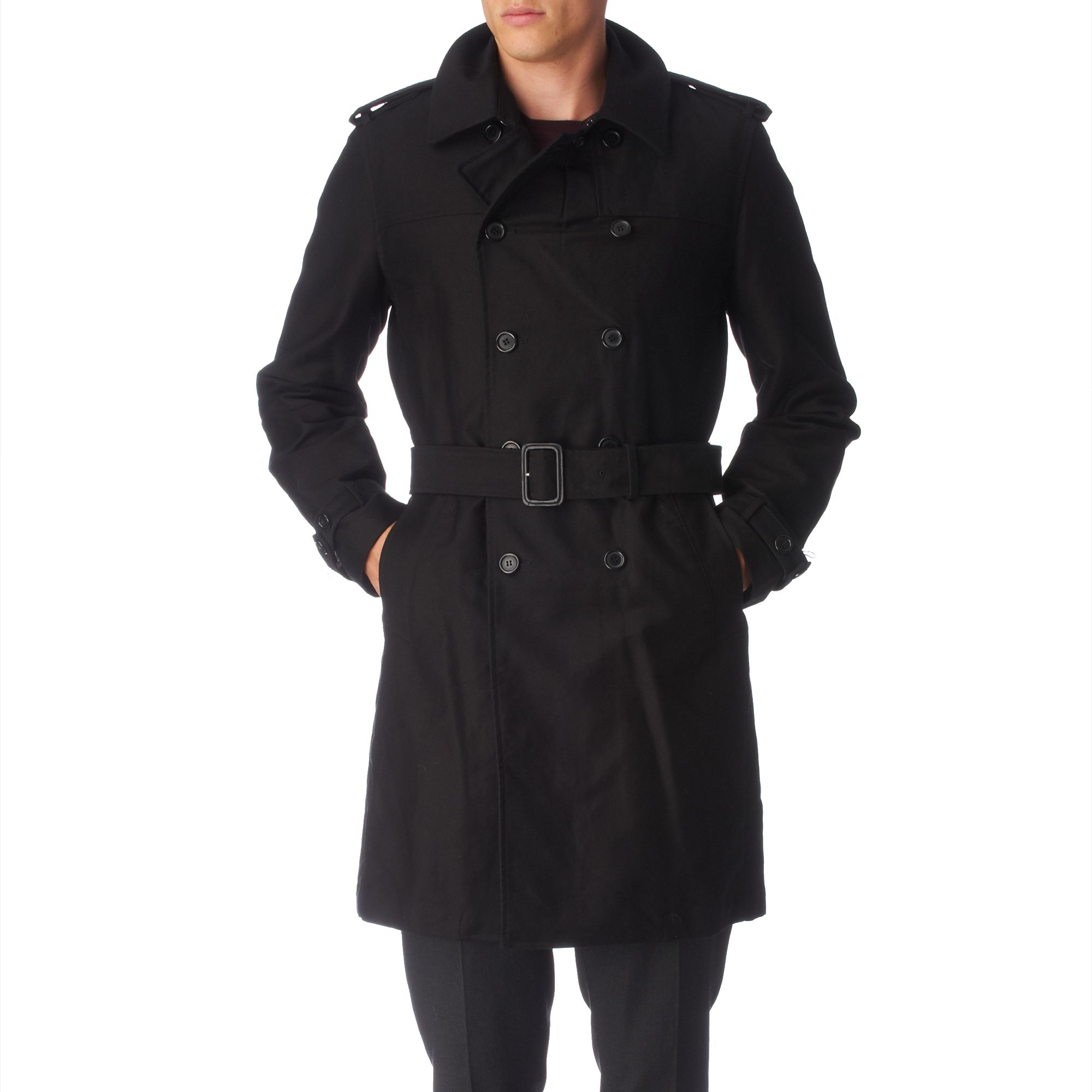 SKU#WQZ Men's Traditional Double-Breasted Long Coat with Rear Cape Black Leather long trench coat ~ Raincoat ~ Duster $ SKU#QDA Men's Classic 3/4-Length Coat with Belt Zip-To-Top China Collar Black Leather long trench coat ~ Raincoat ~ Duster $