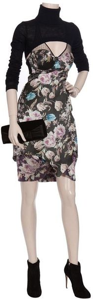 Preen By Thornton Bregazzi Floral Print Halter Dress in Multicolor (multicoloured)
