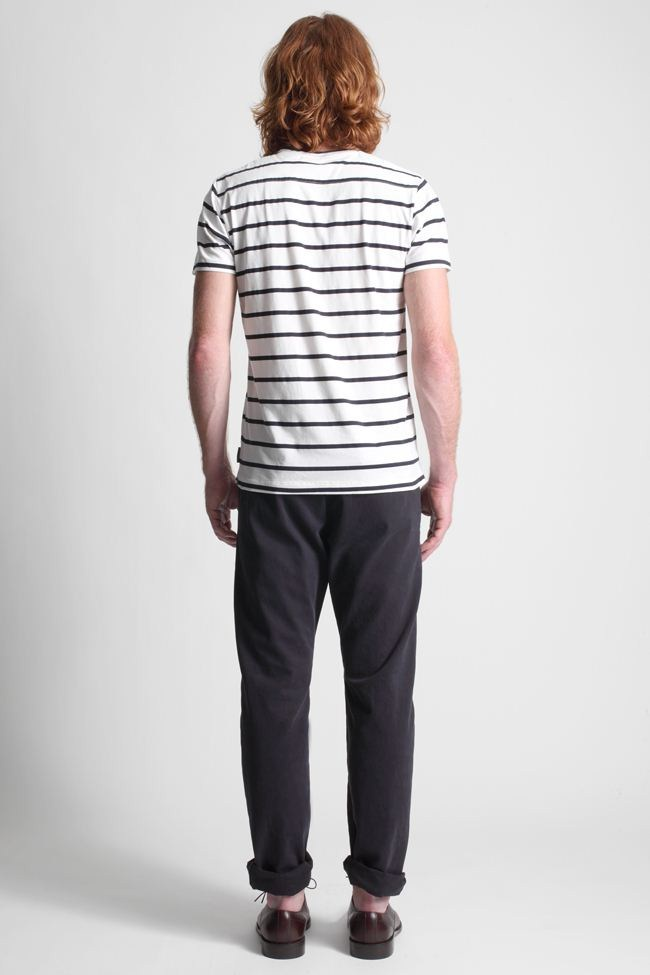 French connection sailor stripe t shirt in blue for men lyst for Striped french sailor shirt