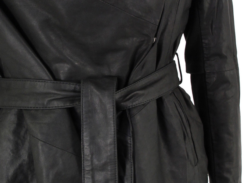 Muubaa Clover Black Leather Jacket in Green for Men