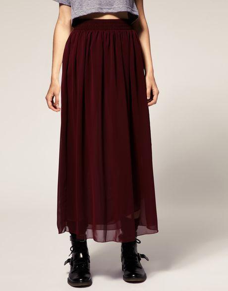 american apparel chiffon layer maxi skirt in