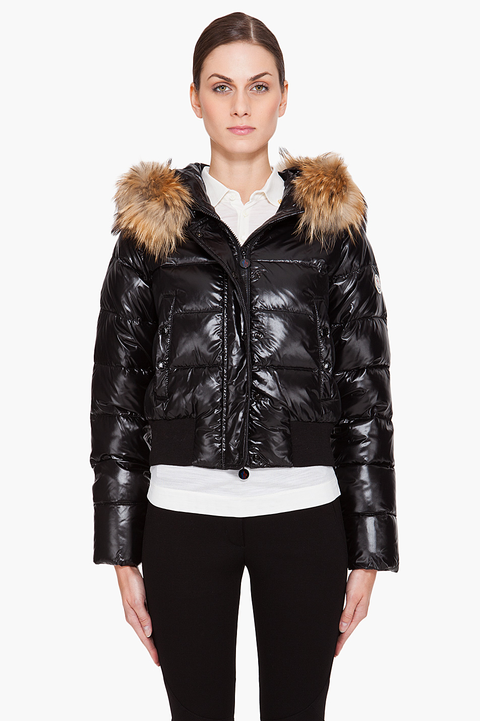 72ea9546b Moncler Black 'armoise' Padded Jacket