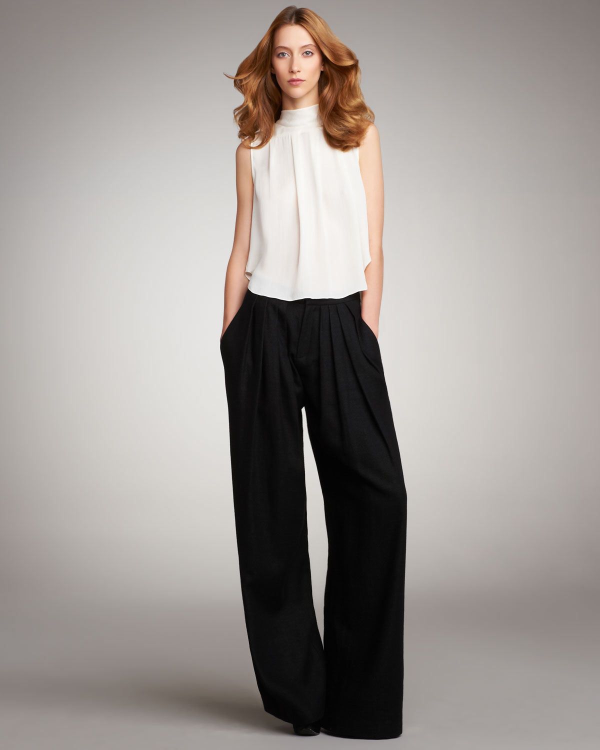 Tall pants by asos tall. Stretch woven fabric. High-rise waist. Pleat detail. Side pockets. Wide-cut leg. Regular fit - true to size. Machine wash. 76% polyester. 18% viscose. 6% theotherqi.cf: $