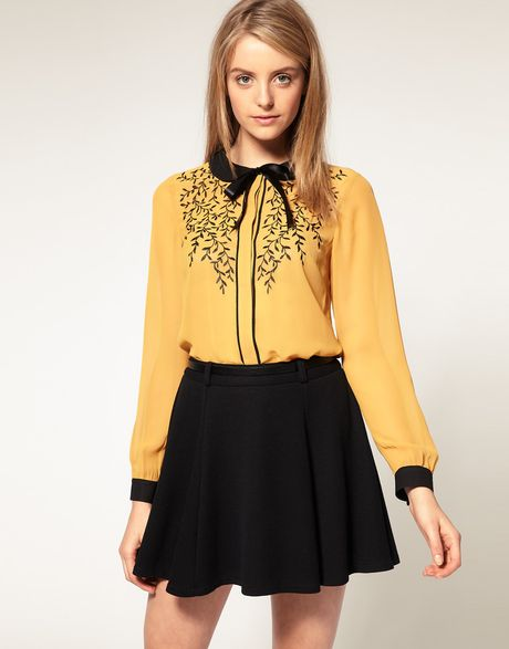 Yellow Blouse With Bow 32