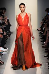 Bottega Veneta Spring 2012 Transparant Layered Gown In Red