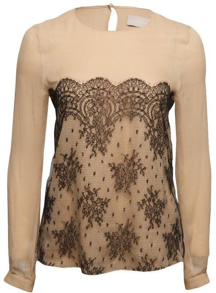 Jason Wu Floral Lace Tee in Floral