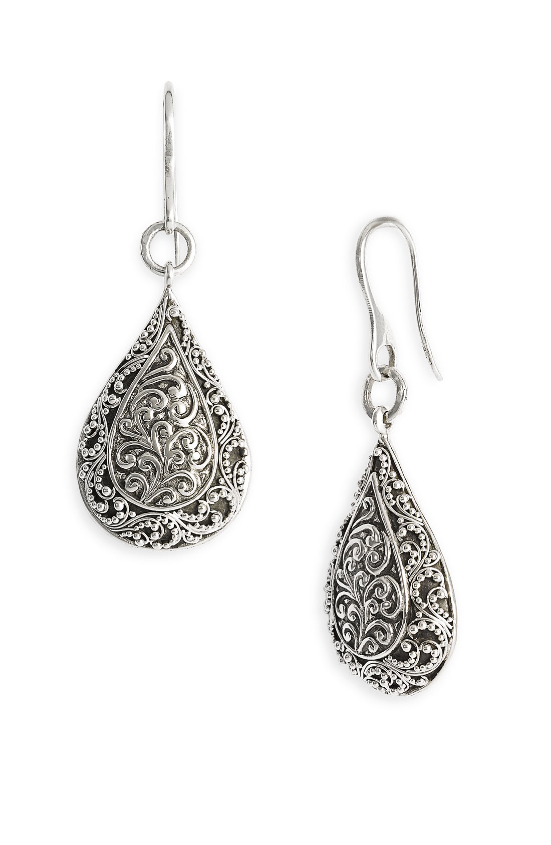 lois hill jewelry lois hill repousse drop earrings in silver sterling 7223