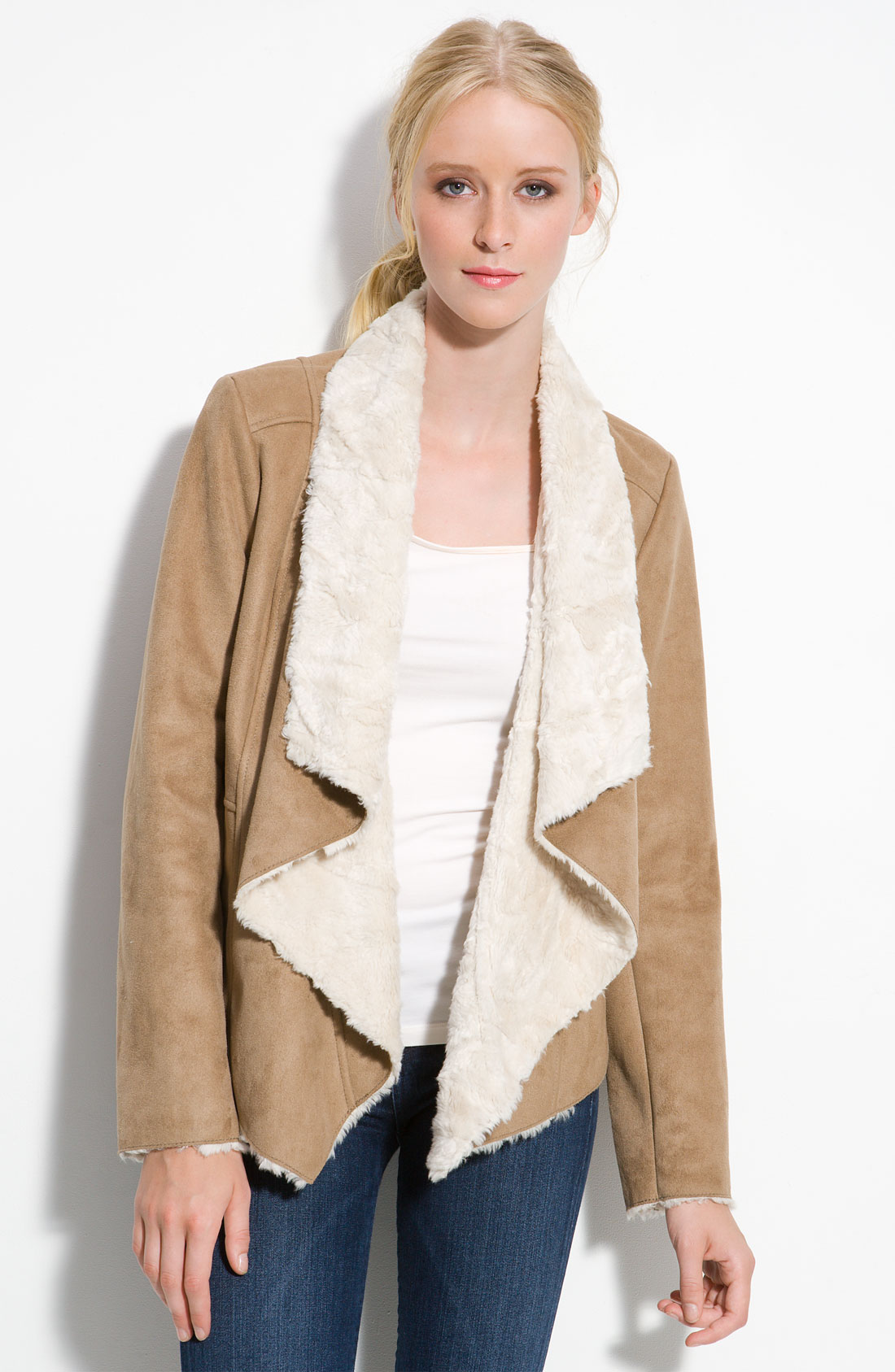 Collection Faux Sherpa Jacket Pictures - Reikian