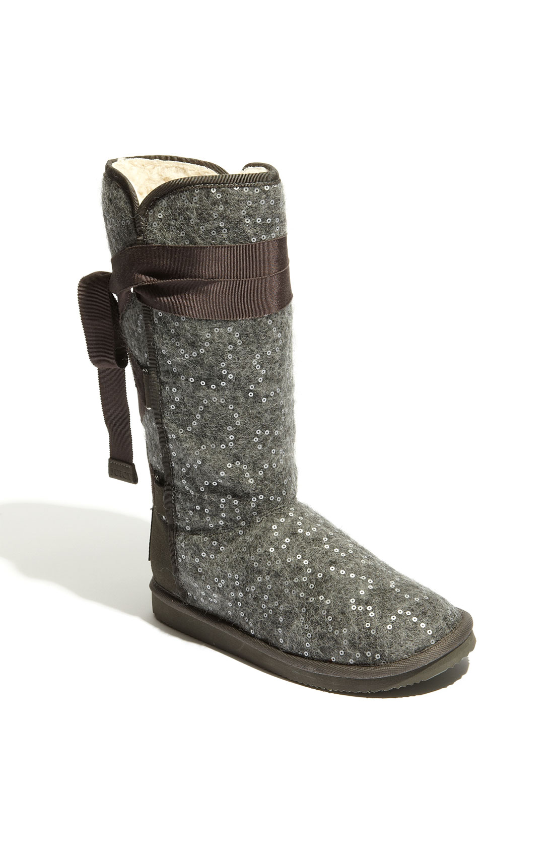 Juicy Couture Marley Sequined Winter Boot In Gray Grey