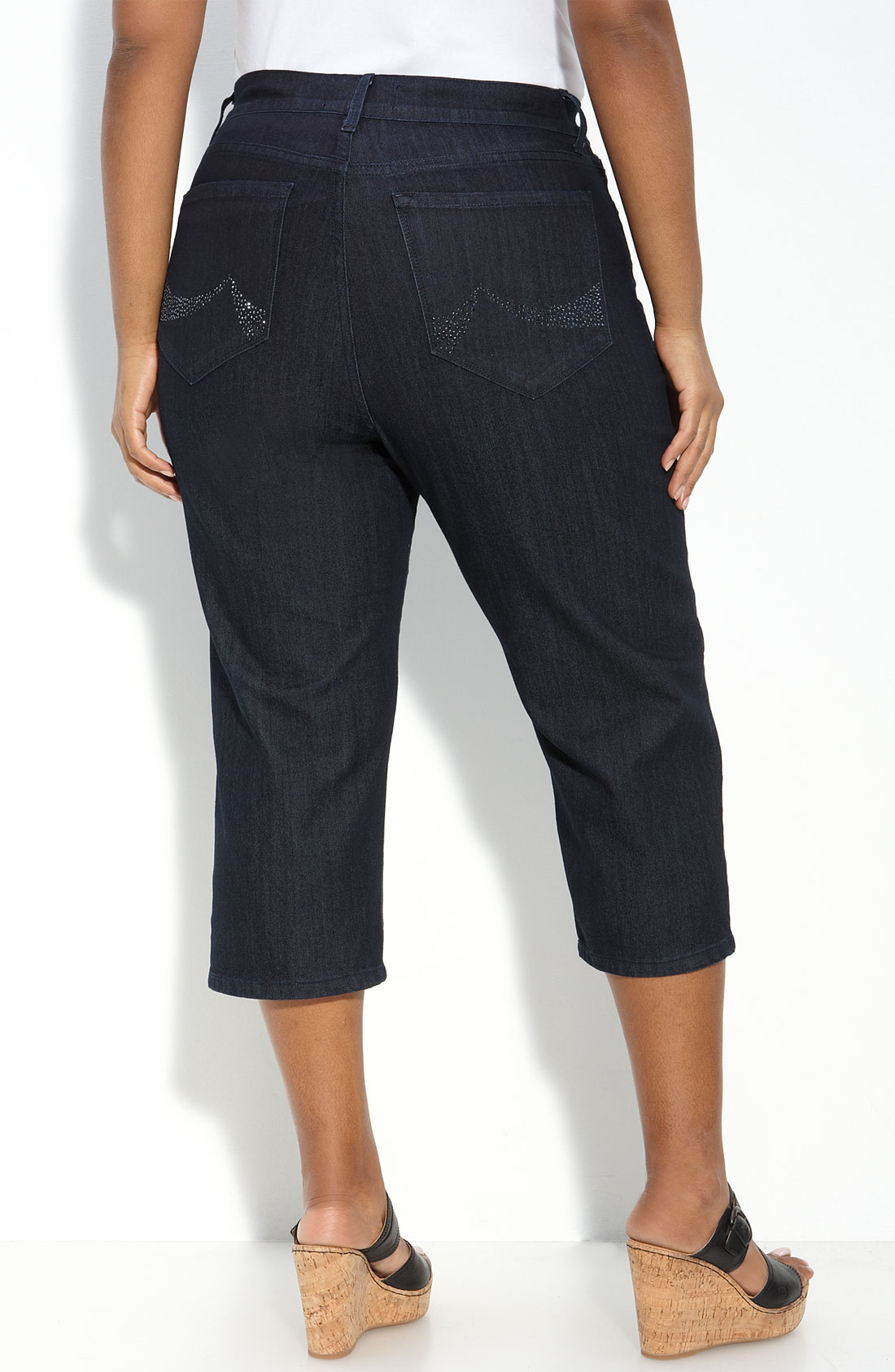 not your daughter 39 s jeans ariel stretch capri jeans plus. Black Bedroom Furniture Sets. Home Design Ideas