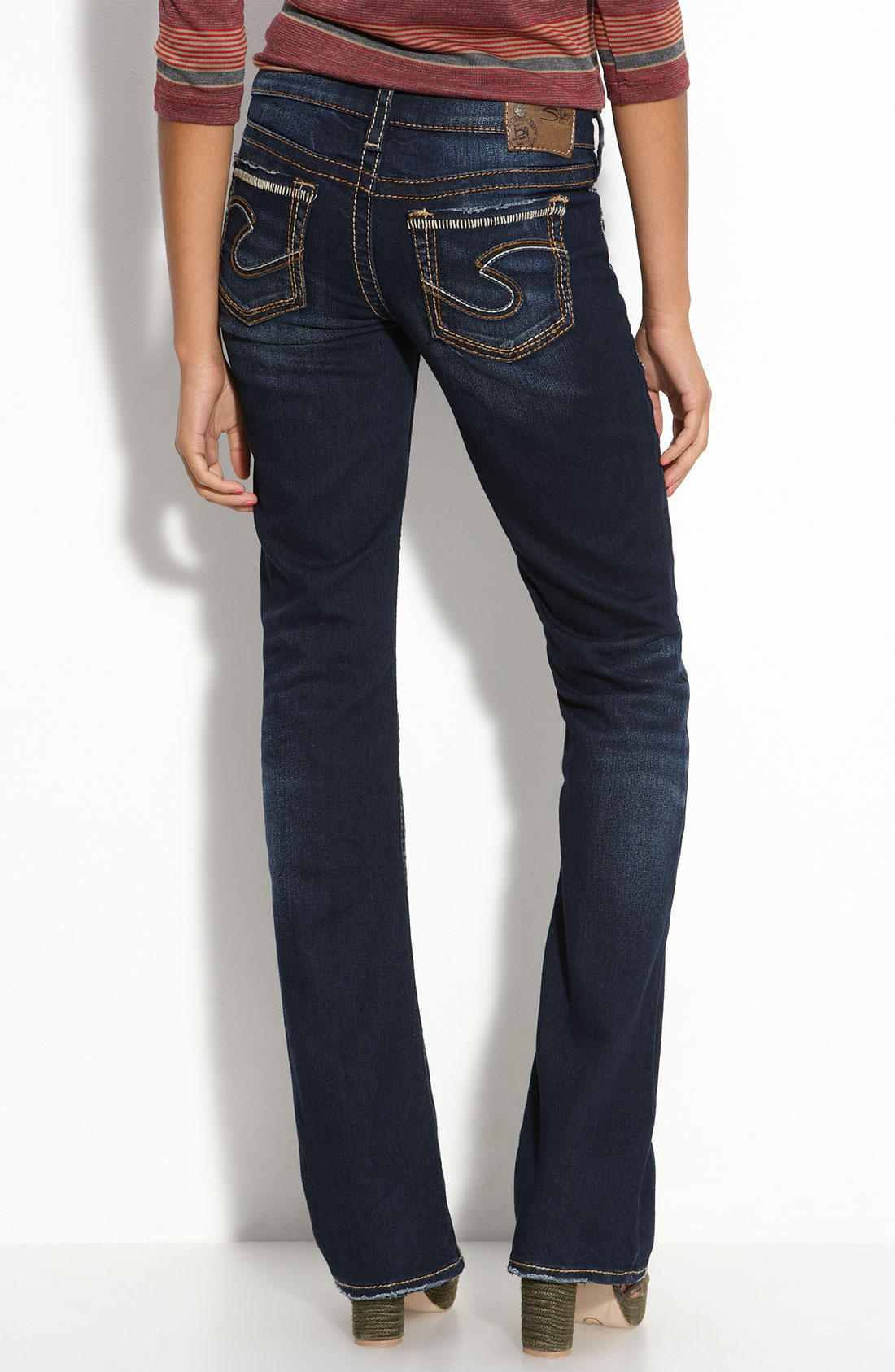 Silver jeans co. Aiko Bootcut Jeans in Blue | Lyst