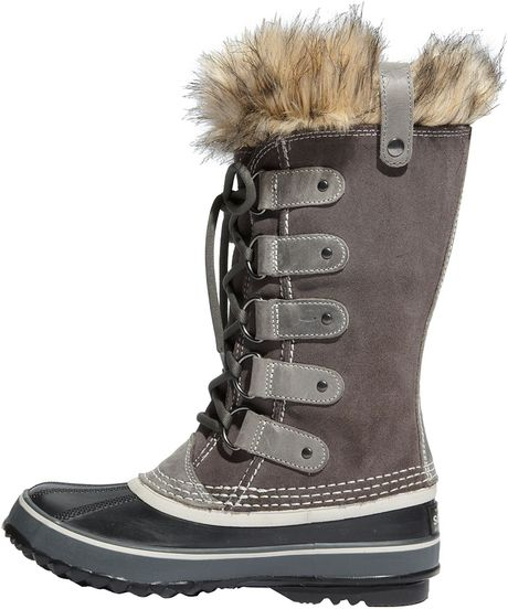 Sorel Joan Of Arctic Waterproof Snow Boot In Gray Shale