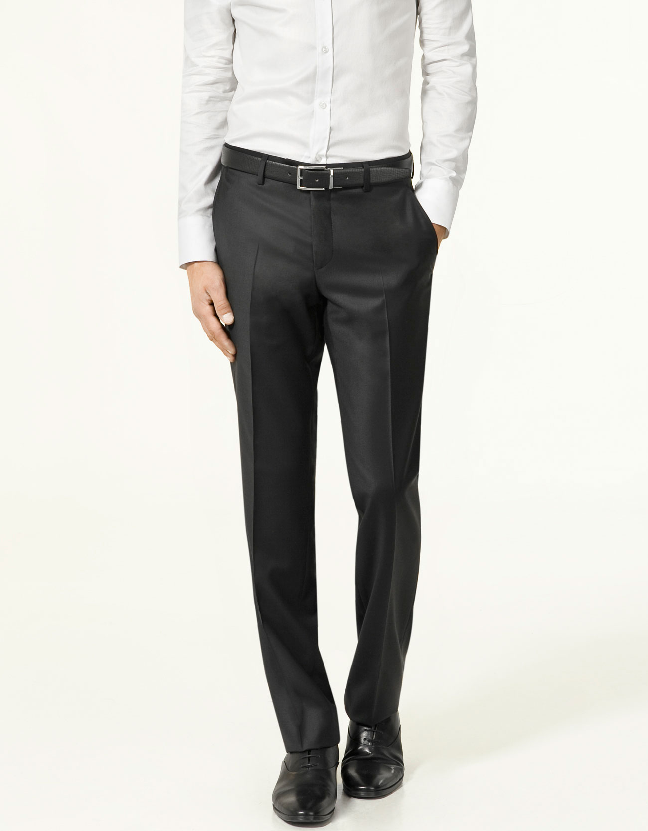 Zara Chinzato Formal Trousers In Black For Men | Lyst