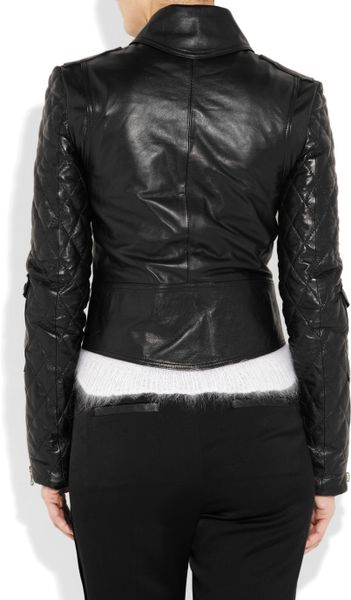 J.w. Anderson Quilted Leather Biker Jacket in Black | Lyst