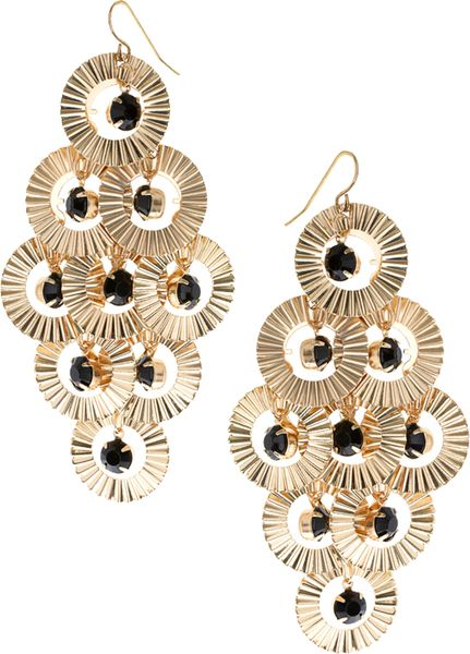 River island gem chandelier earrings