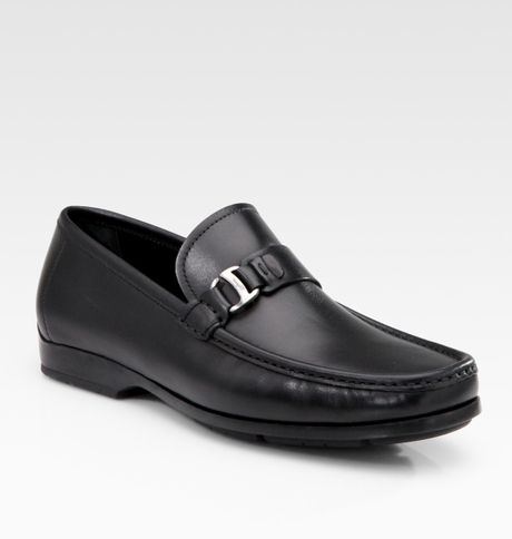 Ferragamo Gerolamo Moccasins in Black for Men