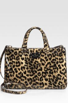 Kate Spade Brette Leopard-print Patent Leather Tote Bag - Lyst