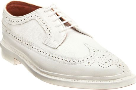 Florsheim By Duckie Brown The Brogue in White for Men