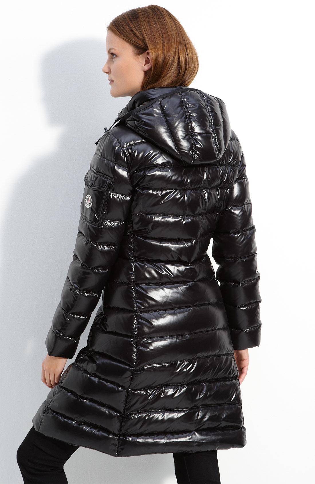 Moncler Moka Padded Coat In Black Lyst