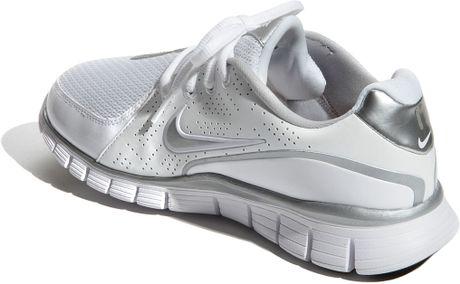 White Nike Women Walking Shoe