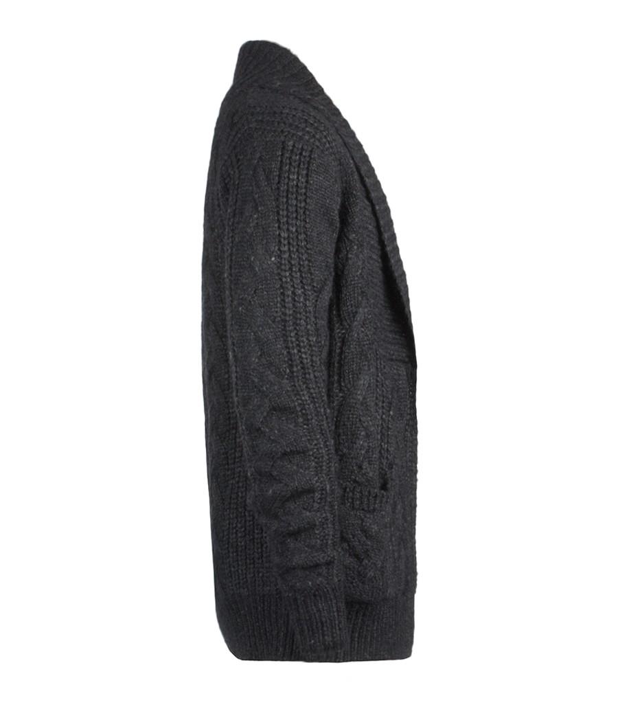 AllSaints Kellin Open Cardigan in Cinder Marl (Grey) for Men