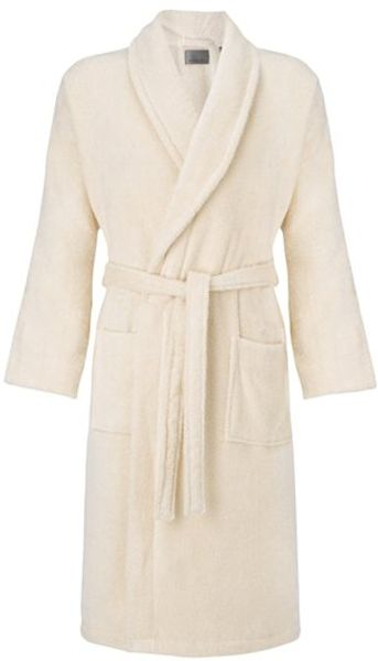 John lewis men egyptian cotton robe ecru in beige for men for Mens egyptian cotton dress shirts