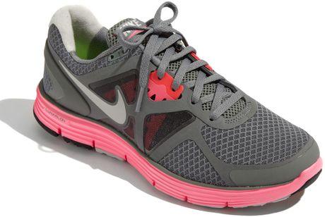 Nike Lunarglide+ 3 Running Shoe (women) in Gray (grey/ midnight/ pink