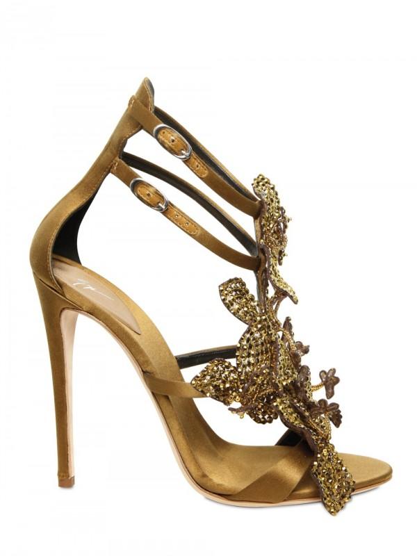 Lyst Giuseppe Zanotti 115mm Silk And Swarovski Sandals