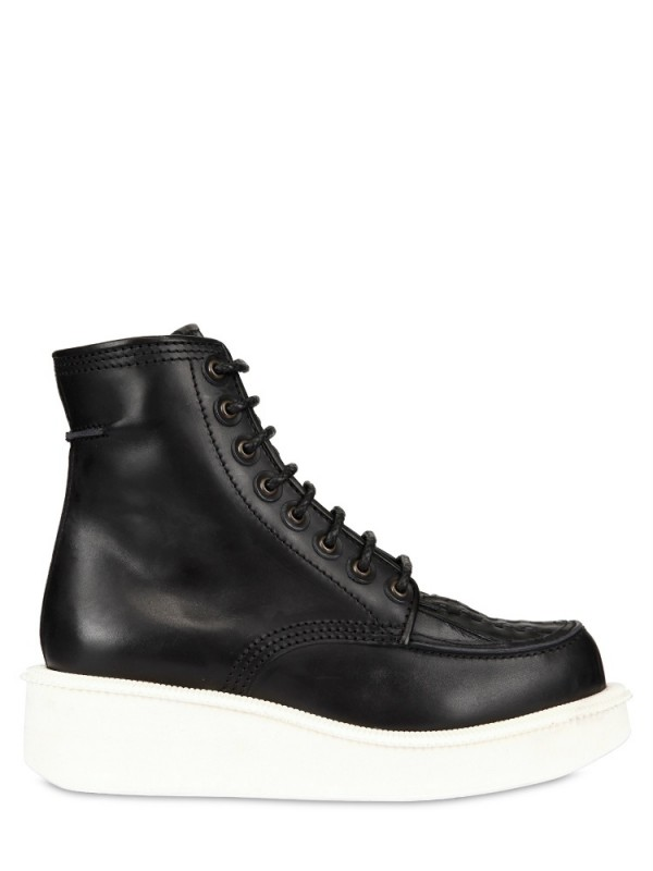 Givenchy Calfskin Platform Low Boots In Black For Men Lyst