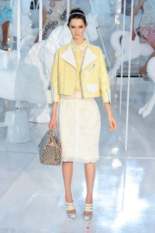 Louis Vuitton Spring 2012 Yellow Matte Crocodile Cropped Motorcycle Jacket  - Lyst