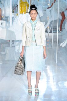 Louis Vuitton Spring 2012 Cropped Motorcycle Jacket with Zip Detail - Lyst