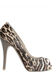 Valentino 120mm Ponyskin Open Toe Pumps - Lyst