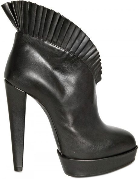 Viktor & Rolf 125mm Ruffled Leather Pumps in Black - Lyst