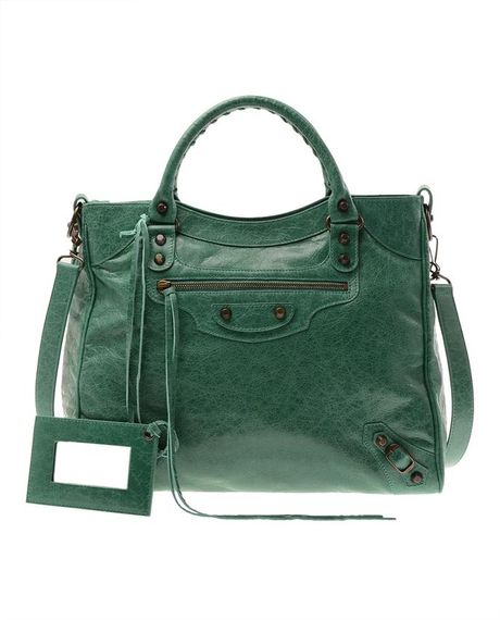 Balenciaga Velo Small Leather Bag in Green - Lyst