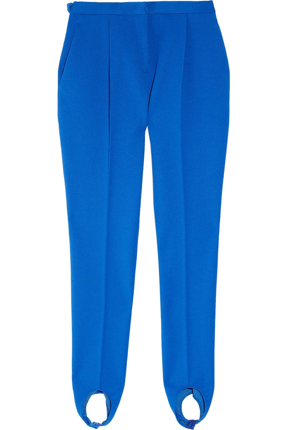 Jil Sander Harvey Short Stretch Wool Crepe Stirrup Pants