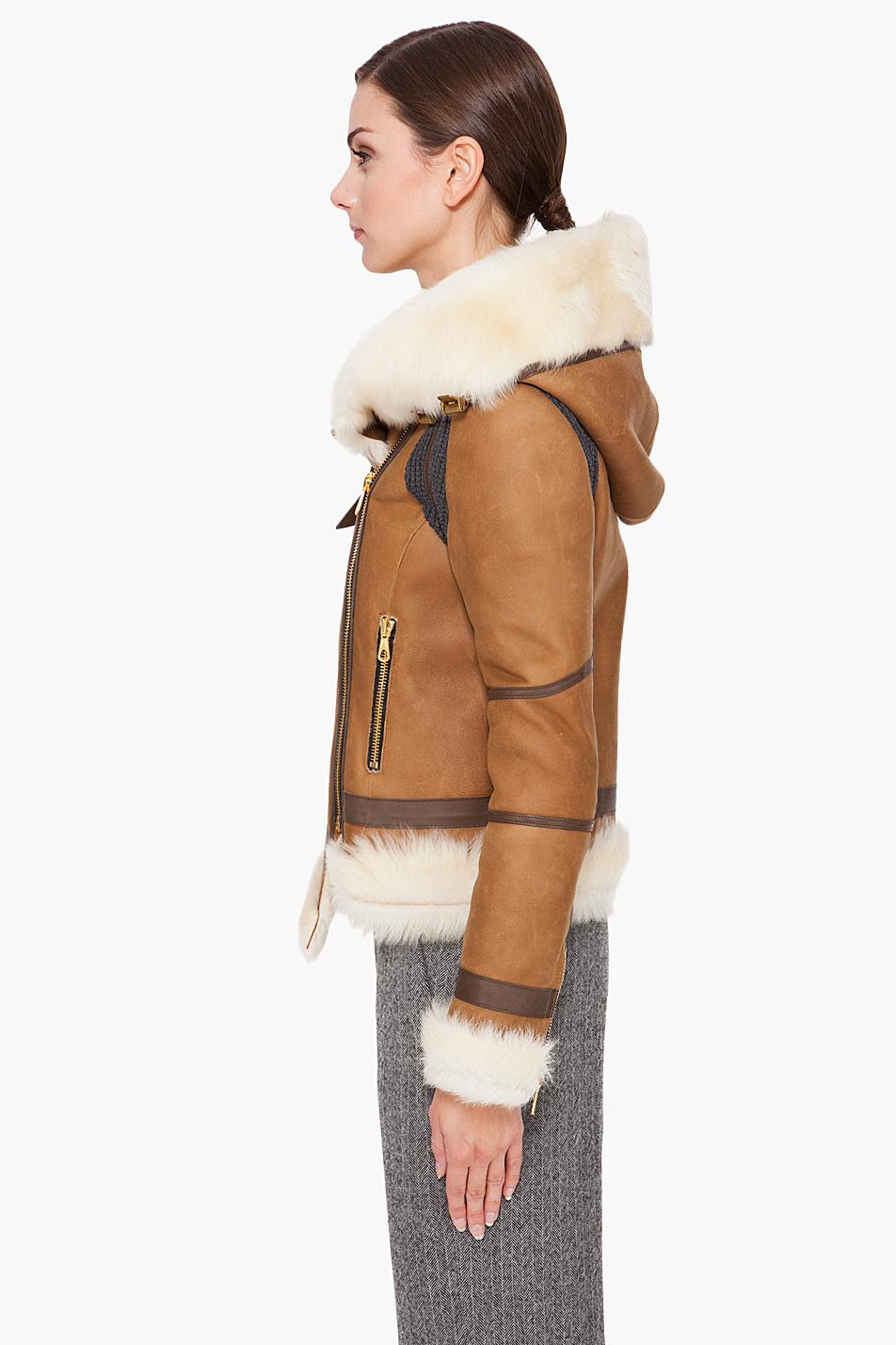 Rag & Bone Preorder Shoreditch Shearling Jacket In Tan