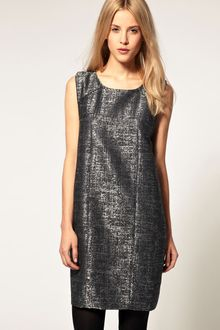 ASOS Collection Asos Shift Dress in Speckled Metallic Design - Lyst