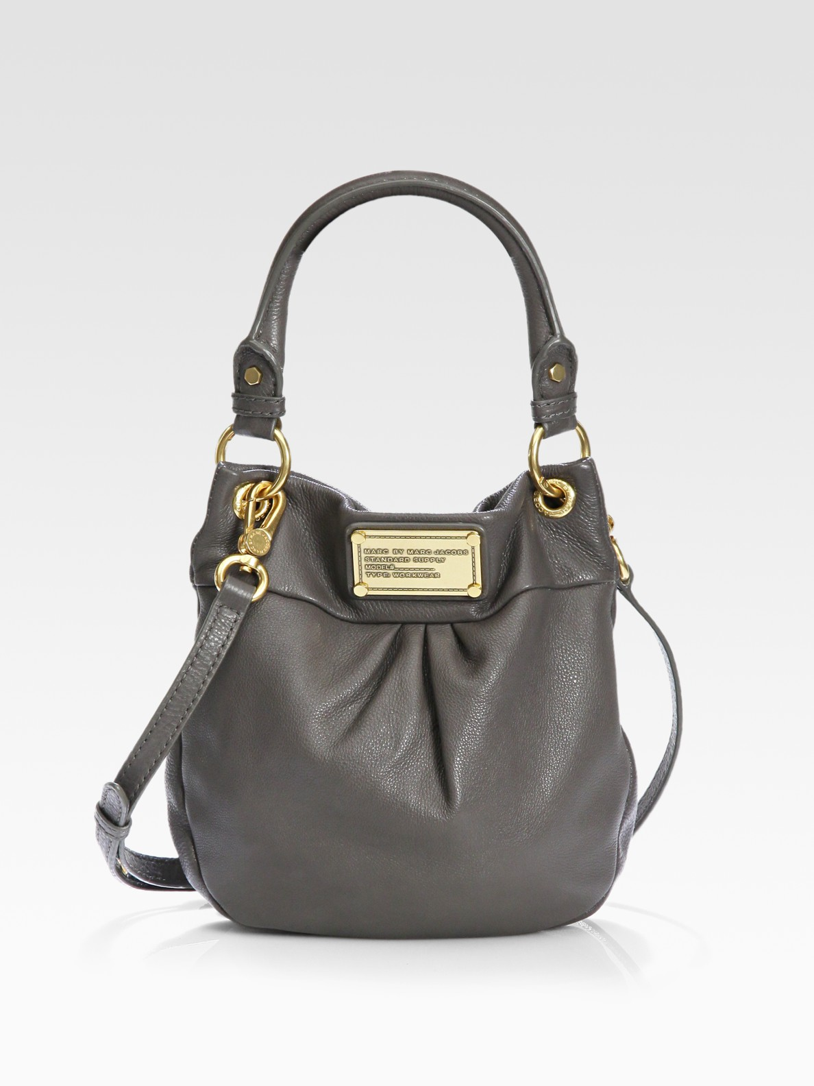 Lyst - Marc By Marc Jacobs Classic Q Mini Hillier Hobo Bag in Black d3be16d704