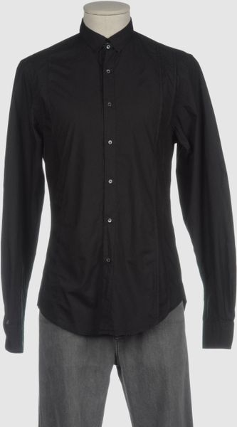 Pringle Of Scotland Pringle Long Sleeve Shirts In Black