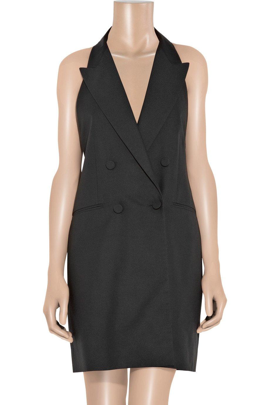 456db35560 Lyst - Stella McCartney Backless Silk-broadcloth Tuxedo Dress in Black